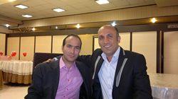 مجری حسینی در کنار حسن ریوندی